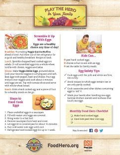 Food Hero Monthly Cover Eggs