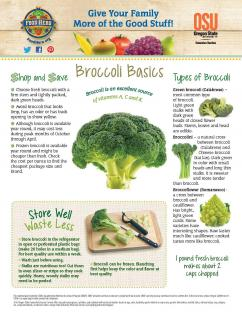 Food Hero Monthly Broccoli Page 1