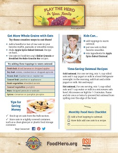 Food Hero Monthly Cover Whole Grains