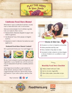 Food Hero Monthly Cover Mom