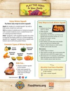 Food Hero Monthly Cover Winter Squash