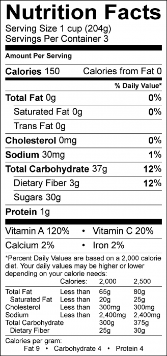 Photo of Nutrition Facts of Peach and Carrot Smoothie