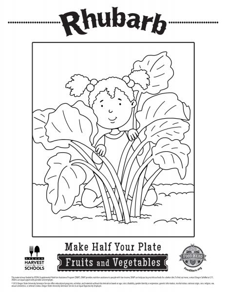 rhubarb coloring pages - photo#9