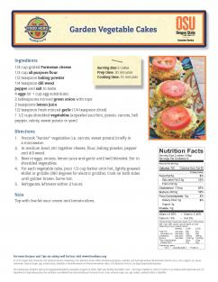 Garden Vegetable Cakes