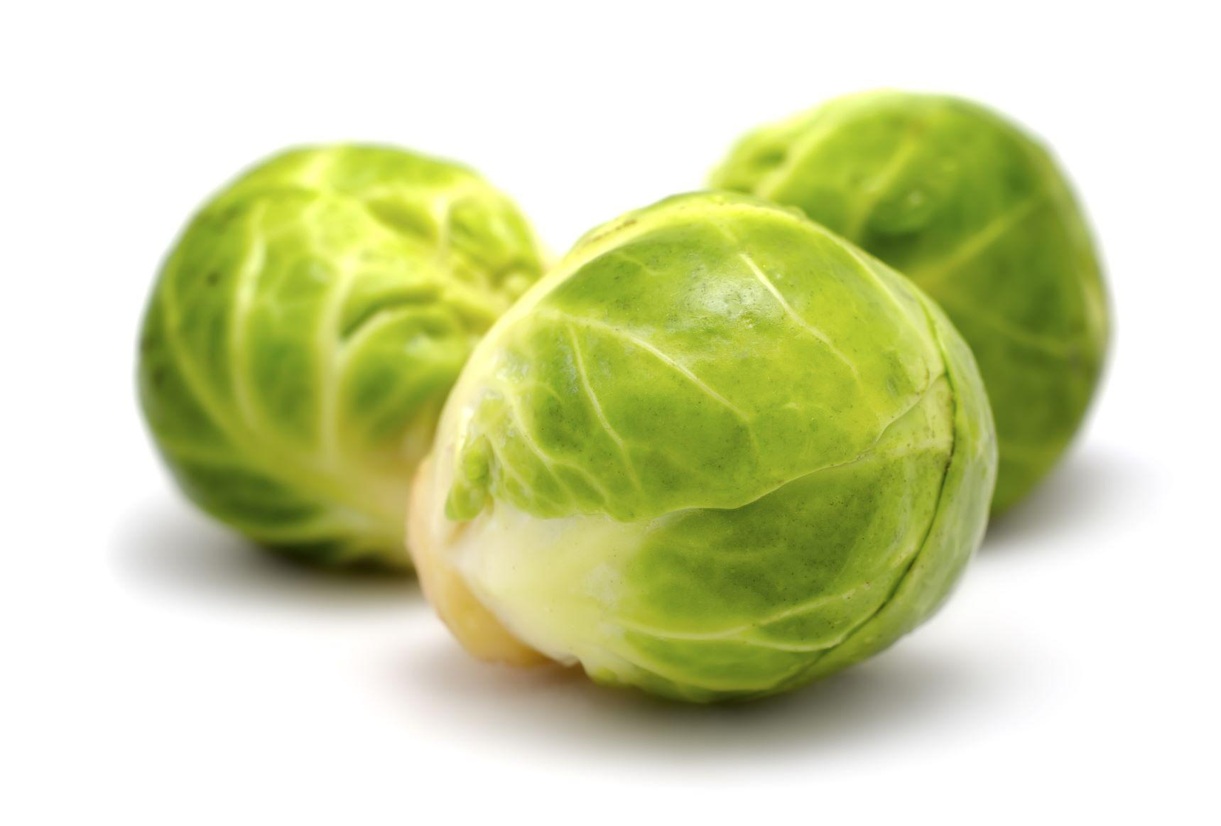 Three Brussels Sprouts