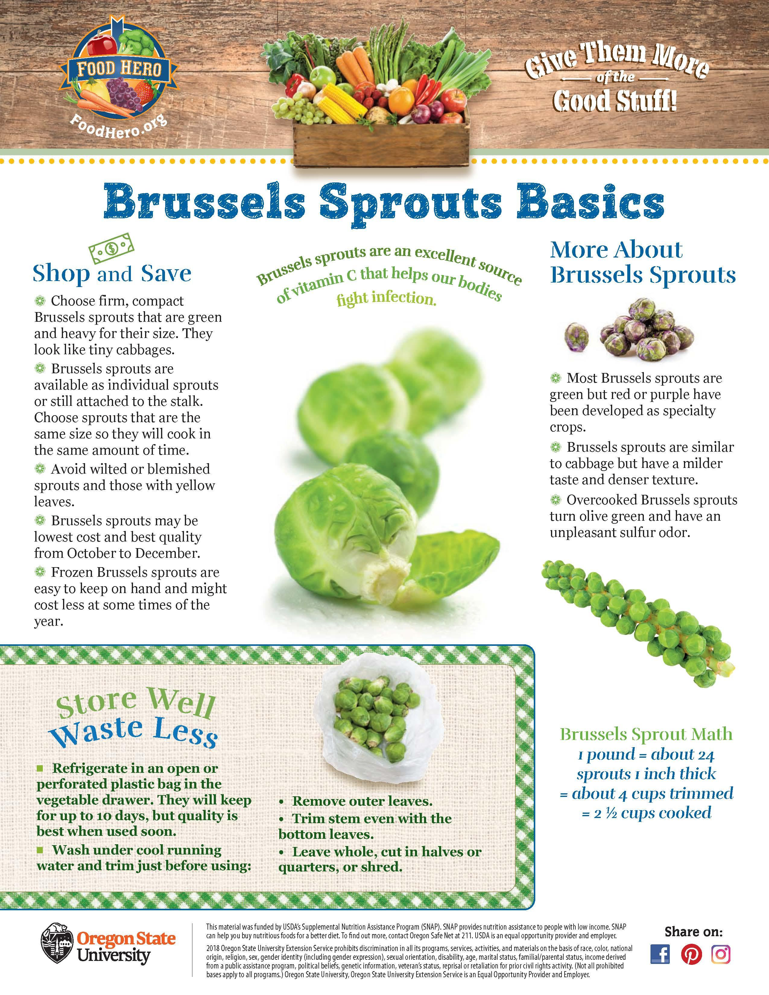Food Hero Monthly Brussels Sprouts