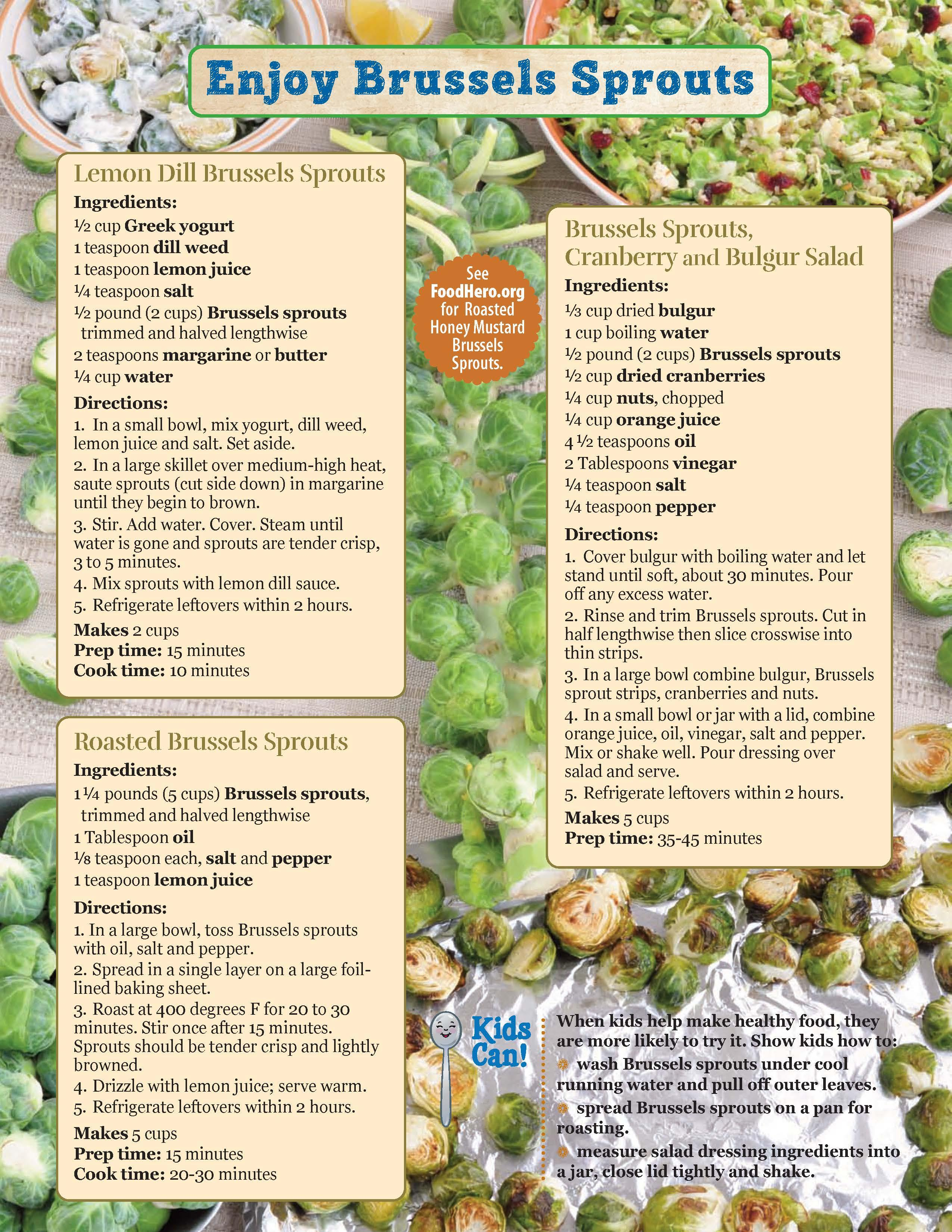 Brussels Sprouts Food Hero Monthly Page 2