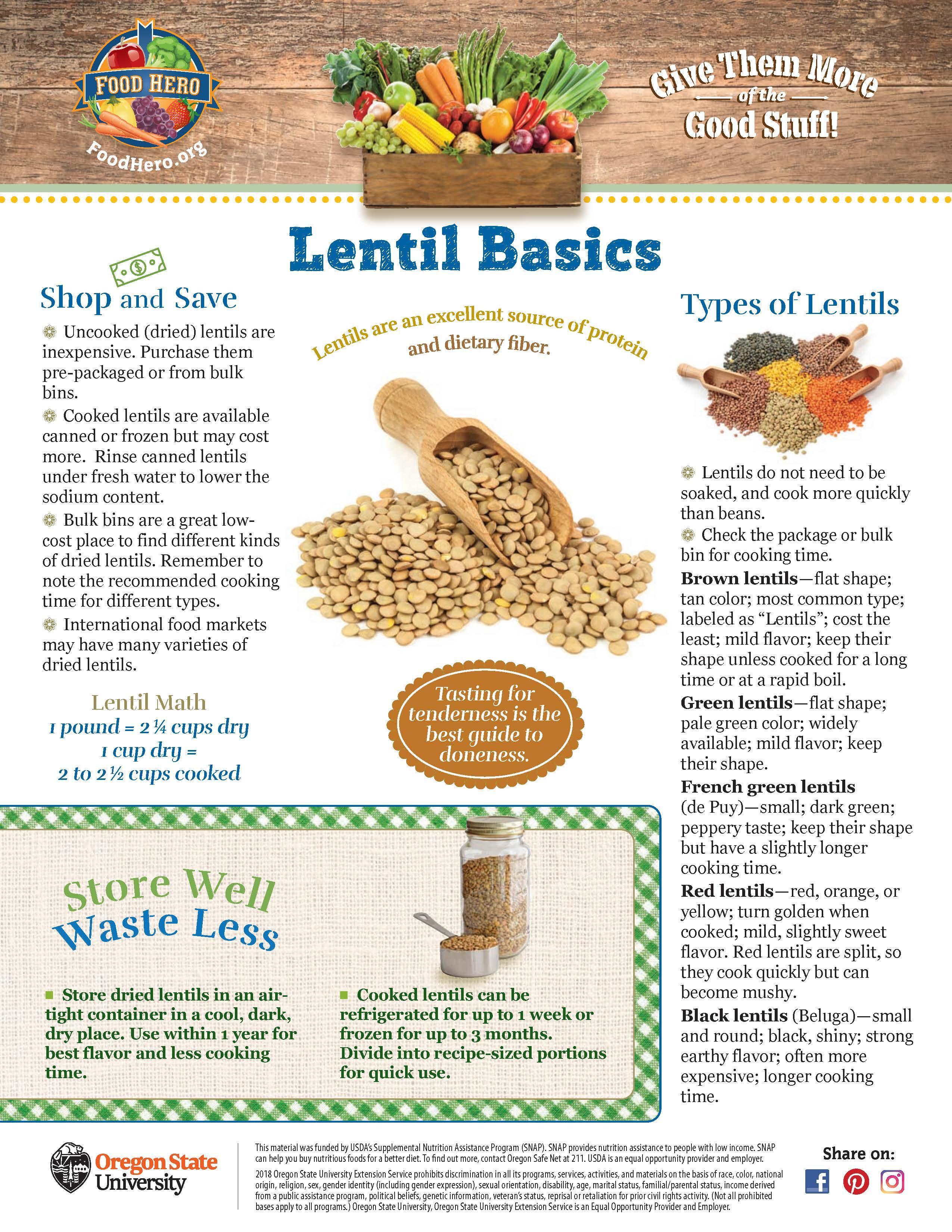 Lentil Food Hero Monthly