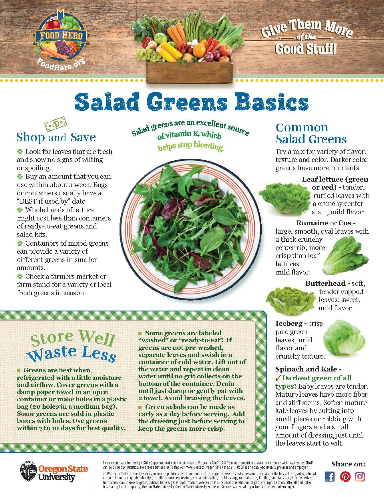 Salad Greens Food Hero Monthly