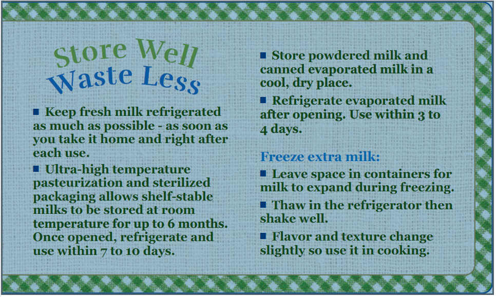 Milk Store Well Waste Less Image