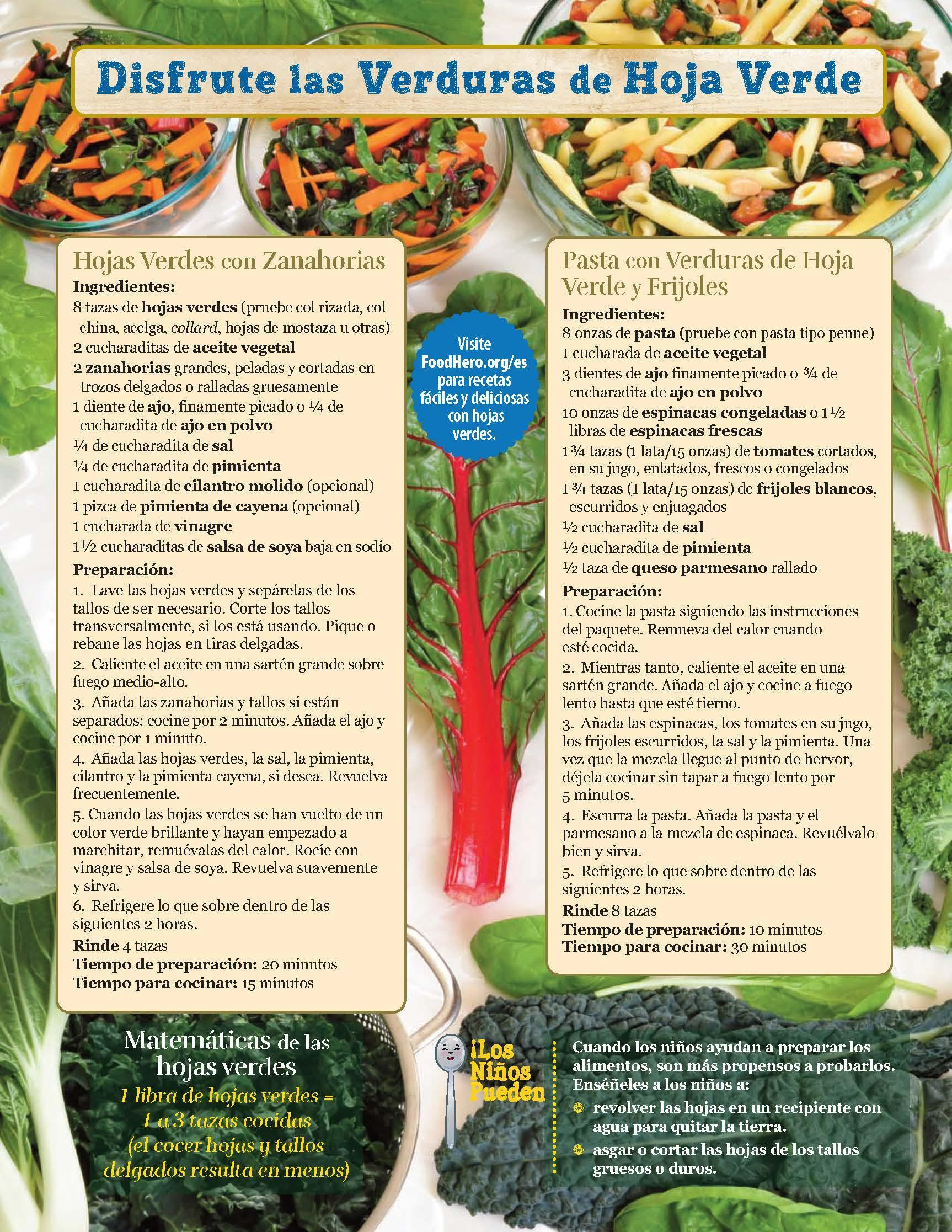 Verduras de Hoja Verde - Héroe de Alimentos Mensuales