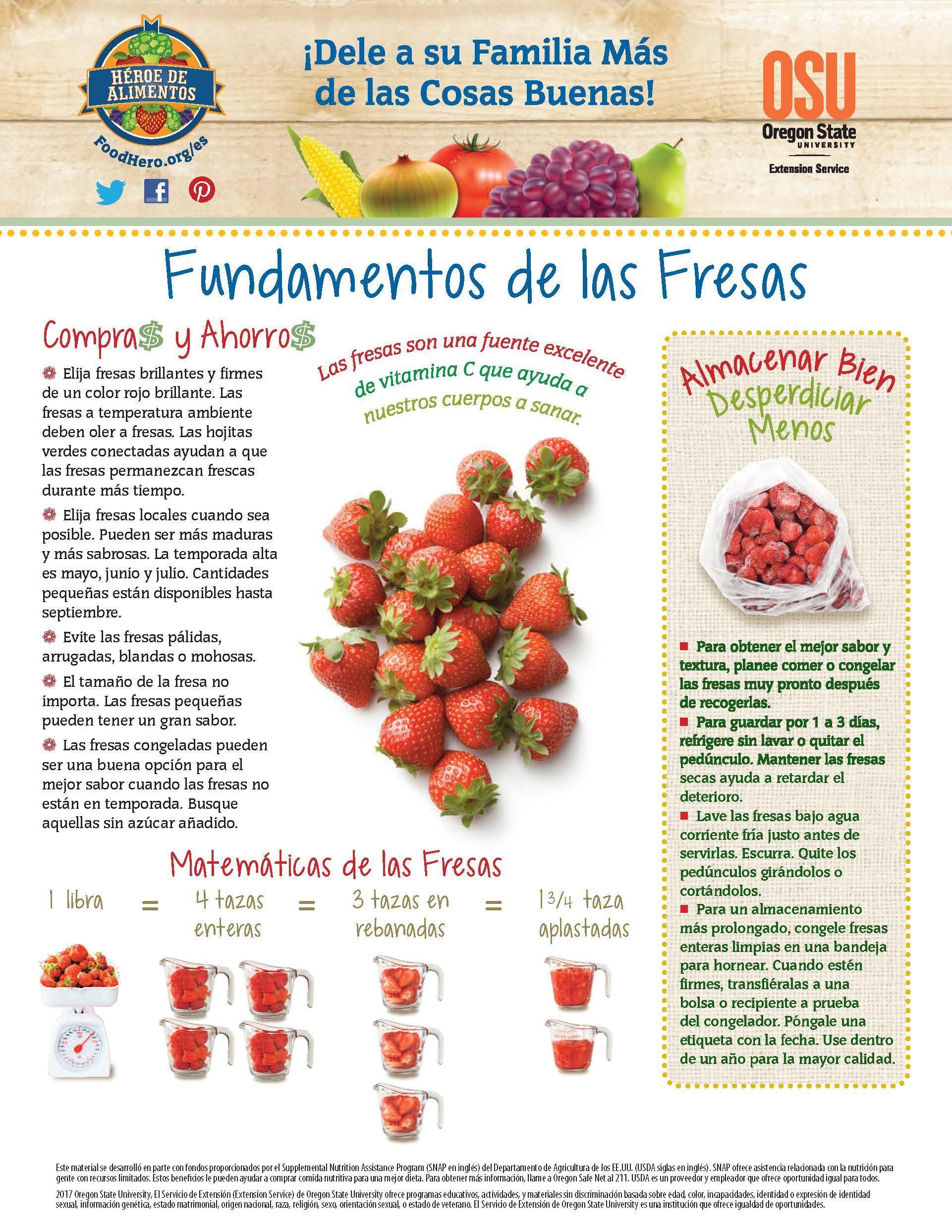 Fresas - Compras y Ahorros