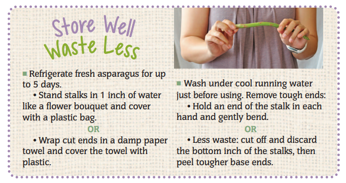 Store Well Waste Less Asparagus