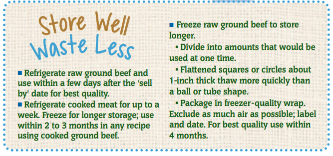 Store Well Waste Less Beef