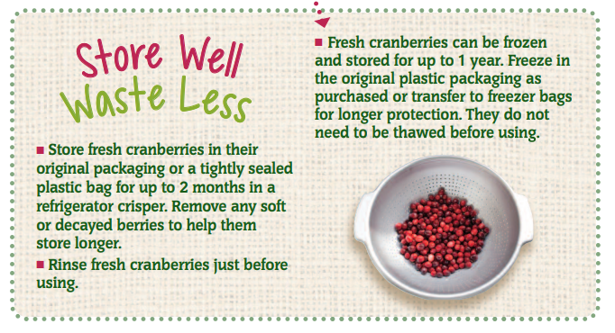 Store Well Waste Less Cranberries
