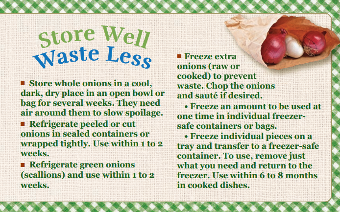 Store Well Waste Less Onions