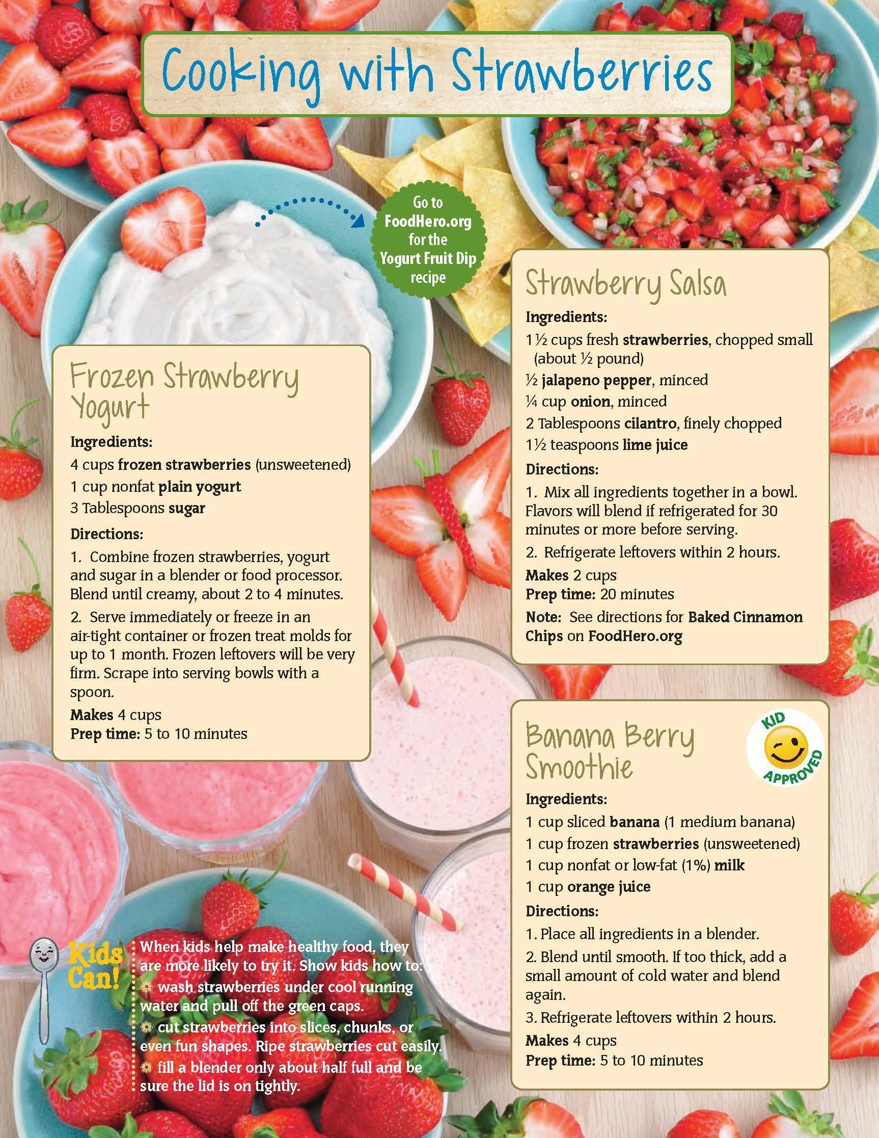 Strawberries Food Hero Monthly
