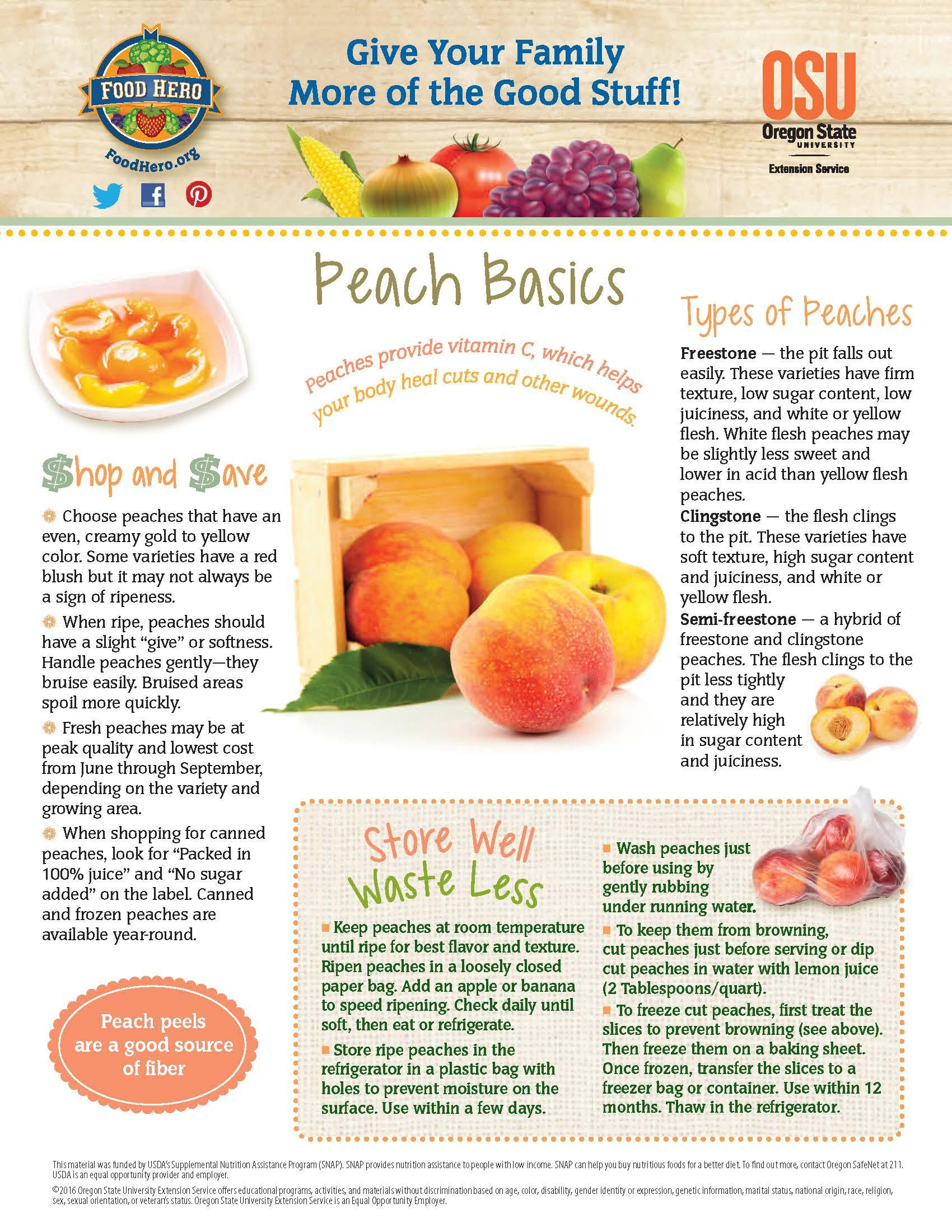 Peaches Food Hero Monthly