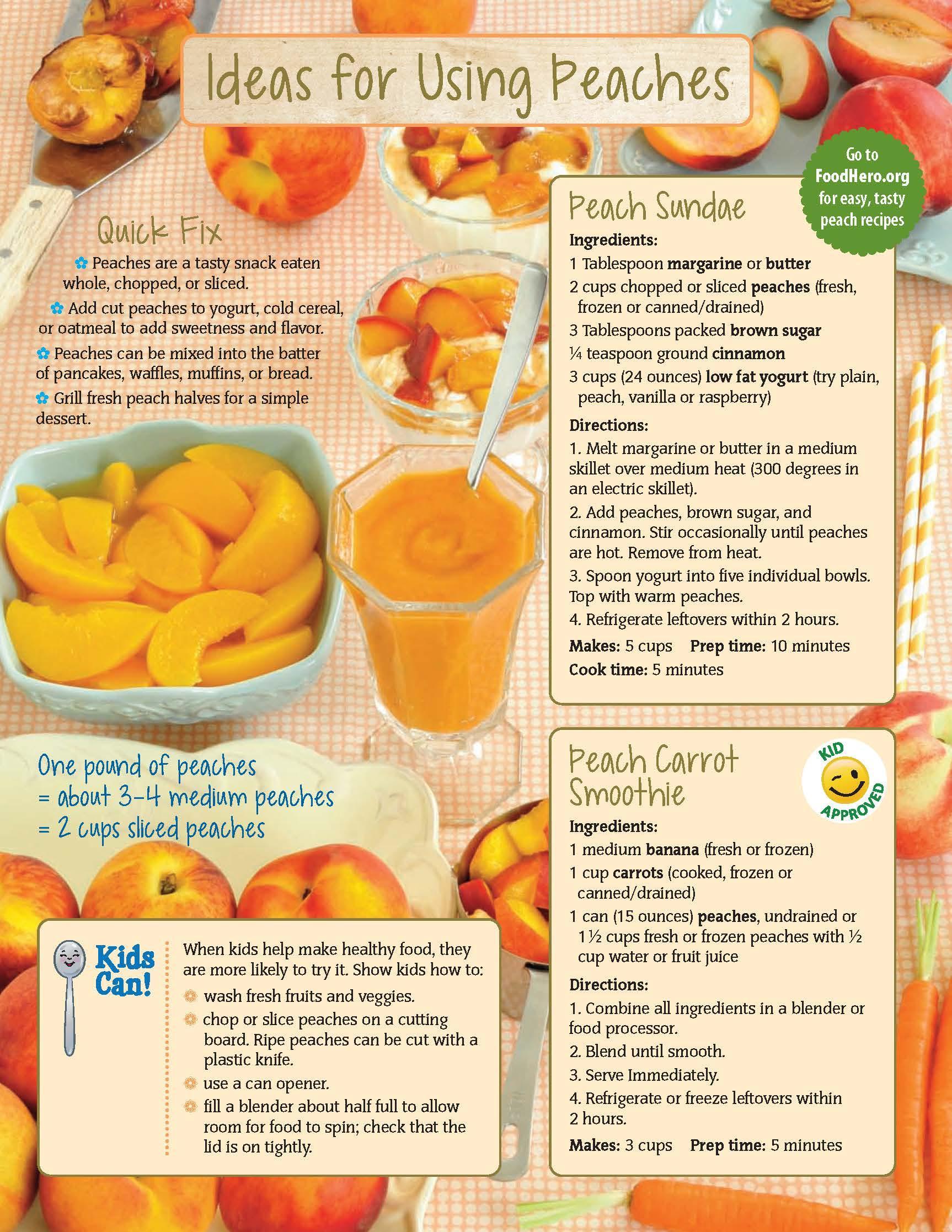 Peaches Food Hero Monthly
