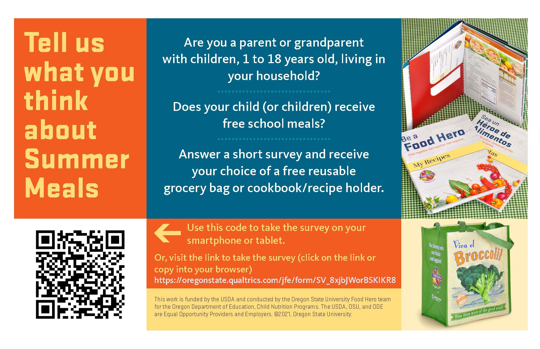 English Summer Meal SFSP Survey Flyer