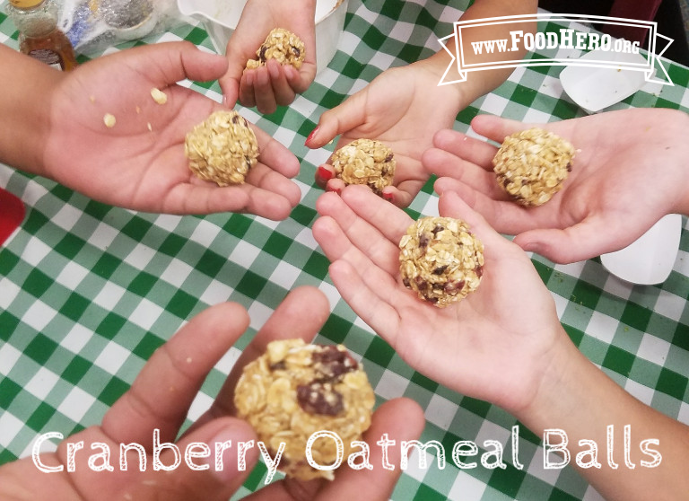 Making Cranberry Oat Balls