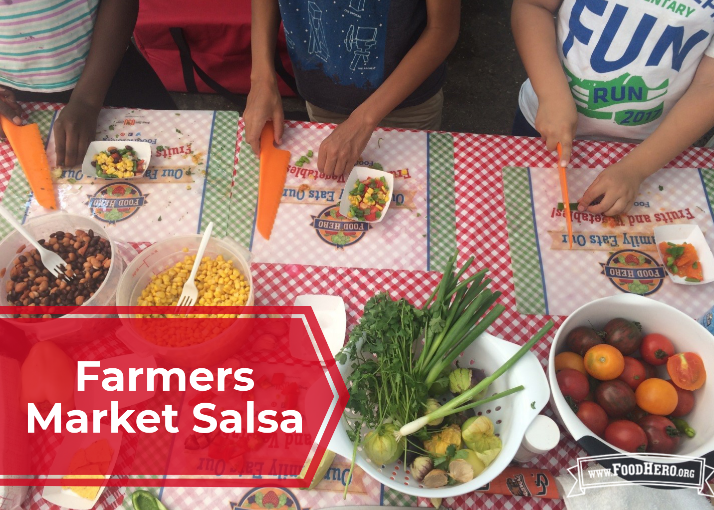 Making Farmers Market Salsa