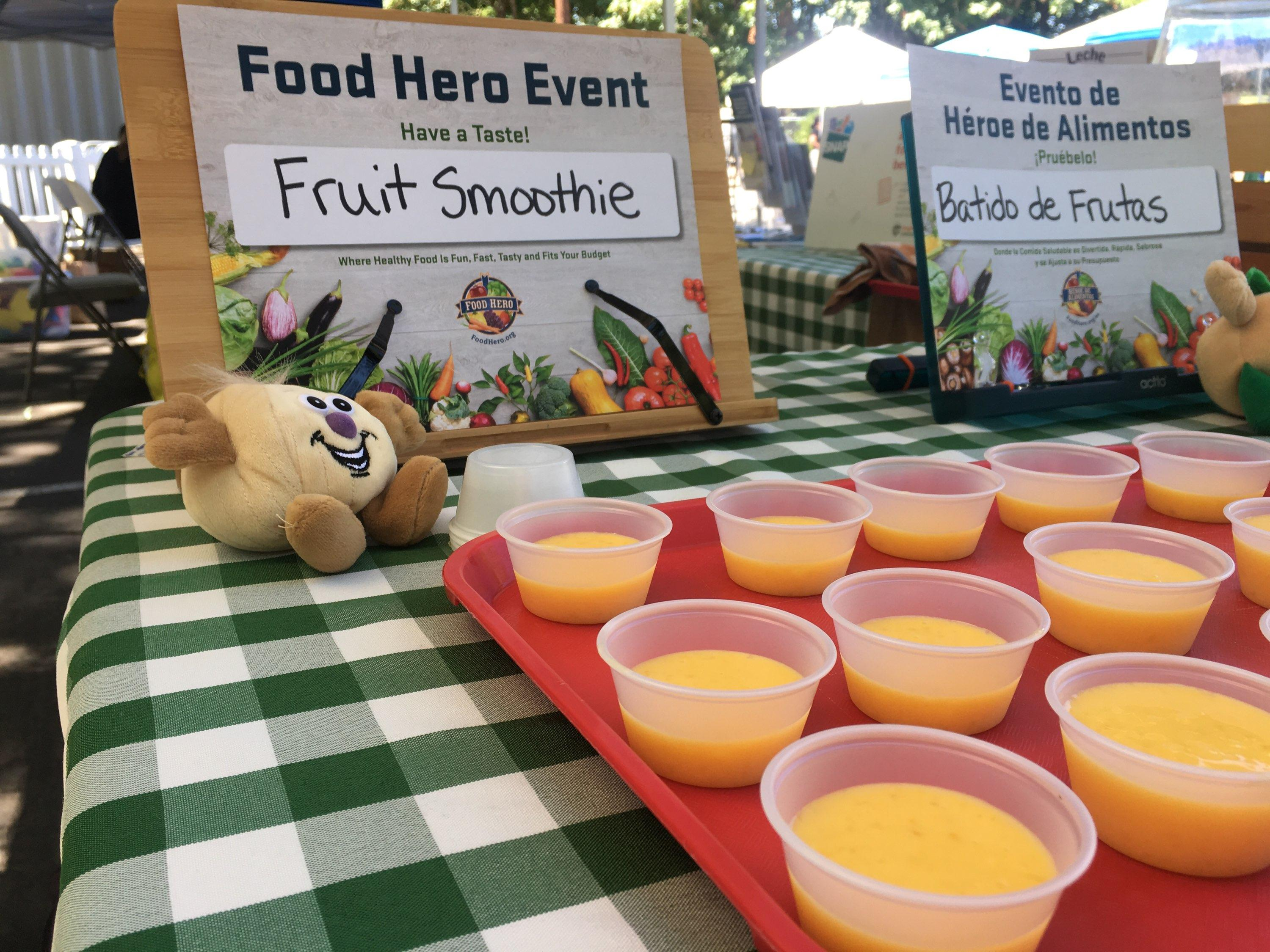 Fruit Smoothie Food Hero recipe tasting