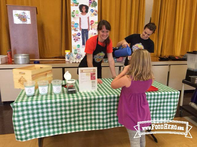 Food Hero Tasting Booth:  Linn Benton Sunrise School