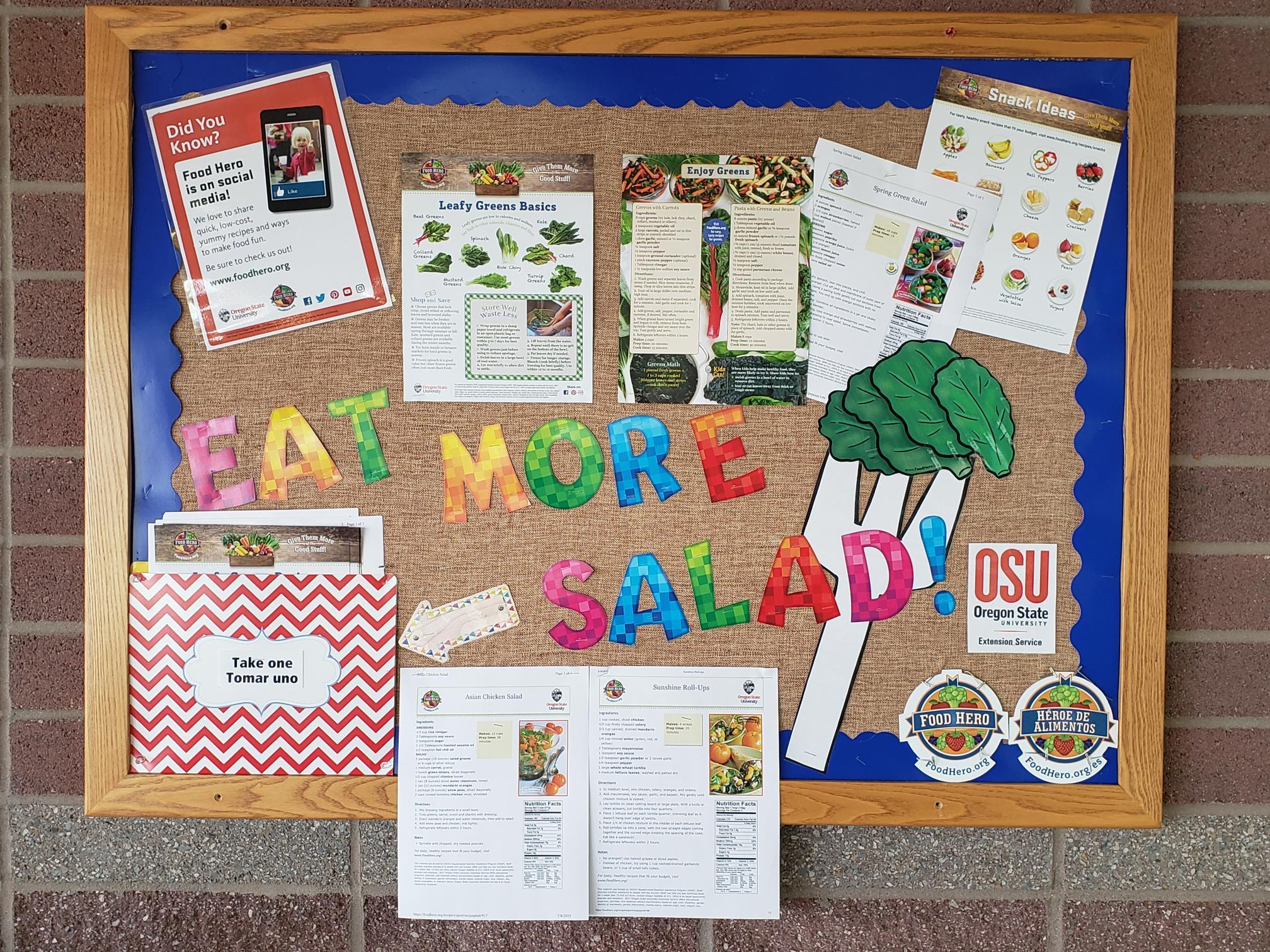 Eat More Salad Bulletin Board