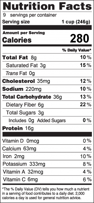 Photo of Nutrition Facts for Tasty Hamburger Skillet
