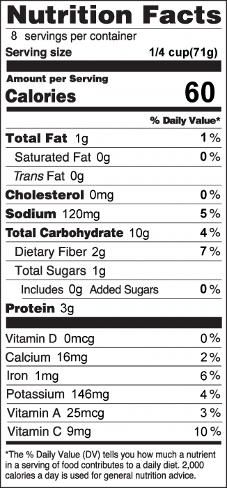 Photo of Nutrition Facts for Lentil Taco Filling