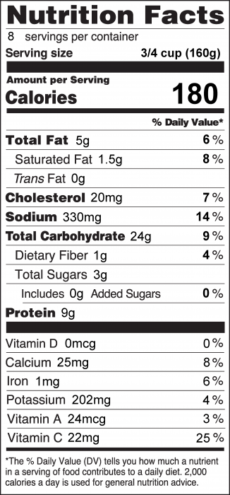 Photo of Nutrition Facts of Vegetables and Turkey Stir-Fry