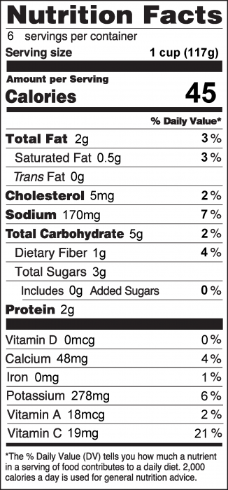 Photo of Nutrition Facts for Zucchini Salad