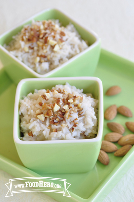 Almond Rice Pudding