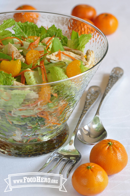 Photo of Green and Orange Chicken Salad