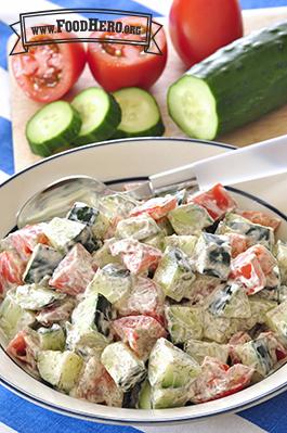 Foto de Ensalada de Pepino y Tomate