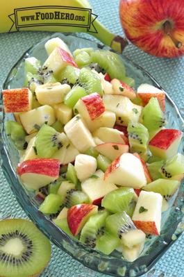 Kiwi Banana And Apple Salad Food Hero