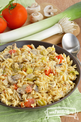 Photo of Leek and Mushroom Orzo