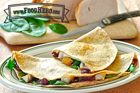 Photo of Turkey Cranberry Quesadilla