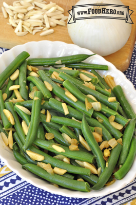 Photo of Green Beans with Onions and Almonds