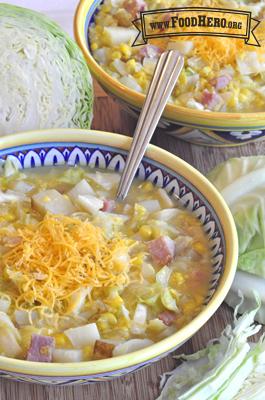 """Foto de Sopa tipo """"Chowder"""" de Jamón y Vegetales"""