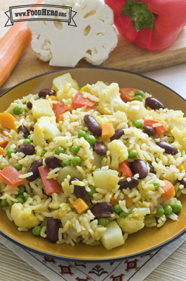 Indian Vegetable And Rice Skillet Meal Food Hero