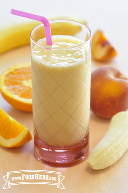 peach yogurt smoothie food hero