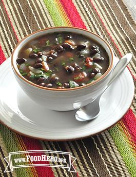 Foto de Sopa Mexicana de Frijol Negro