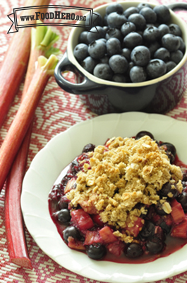 Photo of Rhubarb Blueberry Crisp