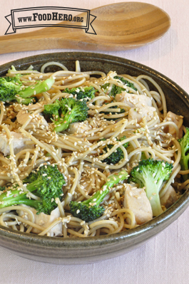 Photo of Sesame Noodles with Broccoli and Chicken