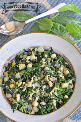 Photo of Spinach with Garbanzo Beans