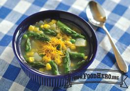 Foto de Sopa de Verduras de Primavera