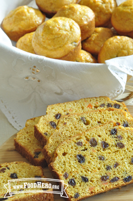Sweet Carrot Bread or Muffins