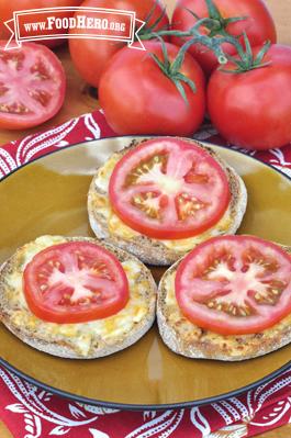 Foto de Tomate y Queso en Panecillo Tostado